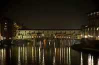 Old bridge - Florence by night