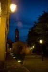 Tuscan village by night
