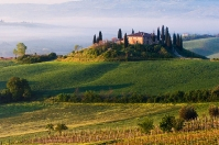Tuscan farm on Orcia hill