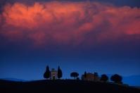 Tuscany-Orcia Chapel Vitaleta