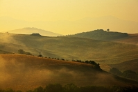 Val d'orcia countryside in Tuscany