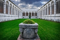 Pisa monumental cemetery in Cathedral square