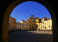 Amphitheater square in Lucca