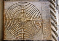 Labyrinbth on Lucca Cathedral - St Martin Church