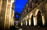Abbey of St Galgano by night