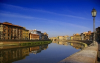 Pisa - Arno river on a sunny day
