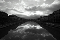 Pisa in black and white - Along the Arno river