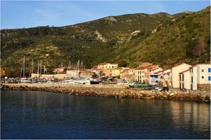 Port of a Tuscan Island in the Mediterranean Sea