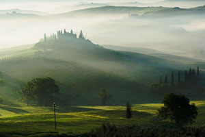 Orcia countryside in Tuscany
